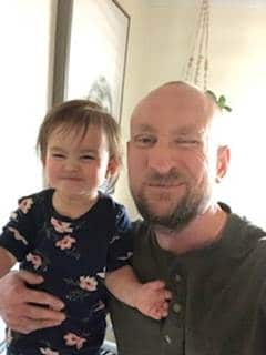 Author and his daughter
